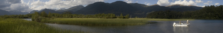 Mel Krieger on Lago Espejo - Farbiger Pigmentdruck