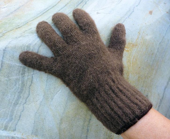 Bison-Handschuhe mit Fingern  L