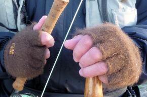 Bison-Handschuhe Fingerlos  S