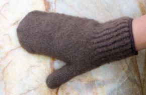 Bison Gloves Mittens  M