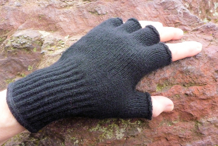 Bison-Handschuhe Fingerlos  L
