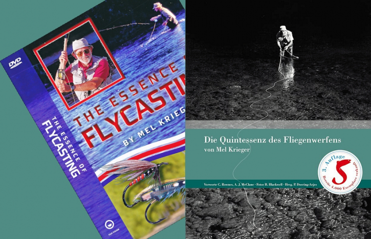 The Essence of Flycasting (German ed.) - Mel Krieger Book + movies