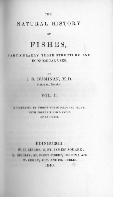 The Natural History of Fishes 1840